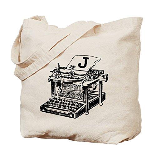 CafePress–J Monogram–Gamuza de bolsa de lona bolsa, bolsa de la compra, diseño de máquina