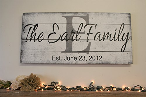 Wall Decor Name Sign Family Name Sign Initial Sign Pallet Sign Wedding Gift Housewarming Gift Anniversary Gift