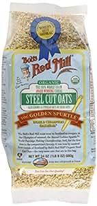 Bob's Red Mill Organic Steel Cut Oats, 24-ounce (Pack of 4)