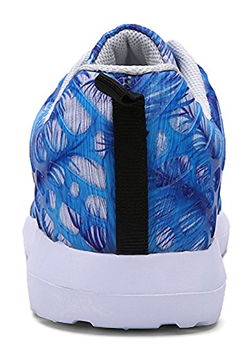 ZHENZHONG Women's Cool Fashion Sneakers Running Sport Shoes Blue for Walking Jogging by ZHENZHONG (Image #4)