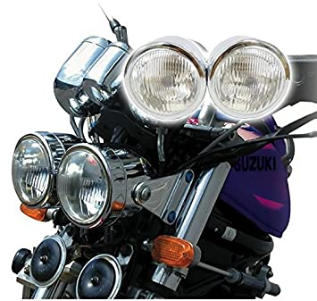 51ZpDNe inL._SX355_ chrome twin dominator motorcycle headlight dual round dominator twin headlight wiring diagram at readyjetset.co