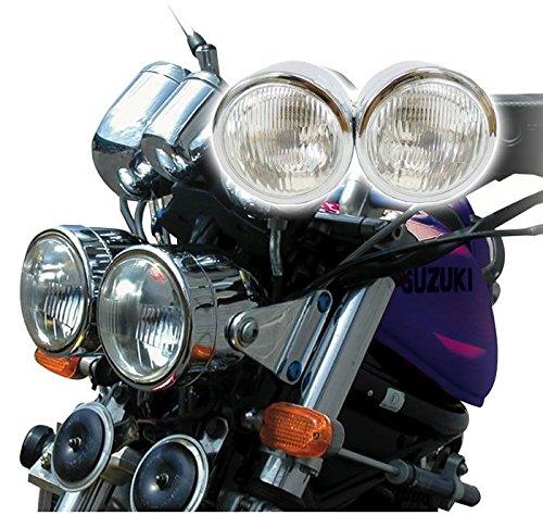 (Chrome Twin Dominator Motorcycle Headlight Dual Round Streetfighter Naked Bike)