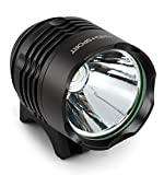 Cheap Super Sale 1200 Lumens LED Front Bike Headlight with 5200mAh Battery Pack & Headband | Waterproof Cycling Headlamp | 3 Lighting Modes | Light Kit for Mountain, Road & Touring Bikes
