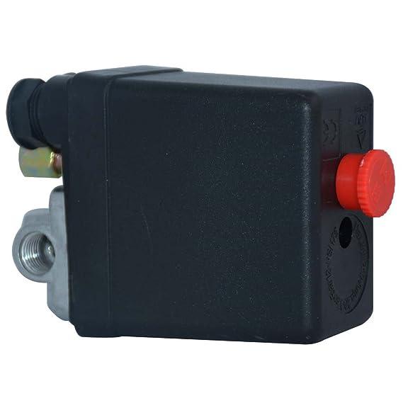 Solarnovo Regulador de Presión de Aire con Interruptor Manómetro de Cantidad de Presión Válvula 230V Conjunto (Solo): Amazon.es: Bricolaje y herramientas