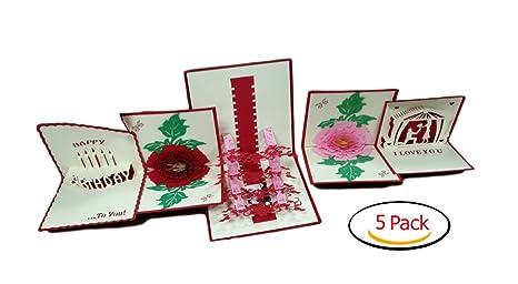 Amazon.com: 3d tarjetas de felicitación de Navidad/Año Nuevo ...