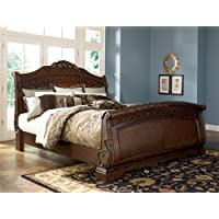 Ashley North Shore 5/0 Queen Sleigh Bed B553 ...Best Seller