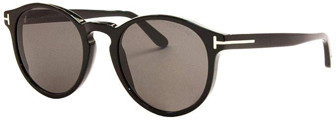 e4913238c4ecd6 Tom Ford IAN-02 FT 0591 Shiny Black Grey 51 20 145 Unisex Sunglasses ...