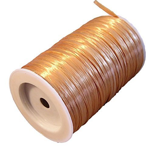 Gold Metallic Raffia Ribbon, 1/4