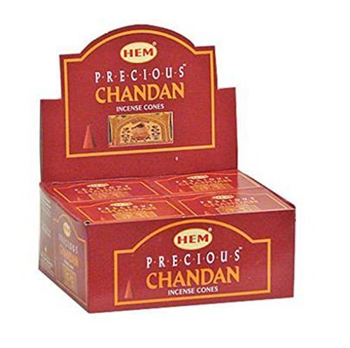 Precious Chandan - Case of 12 Boxes, 10 Cones Each - HEM Incense From India