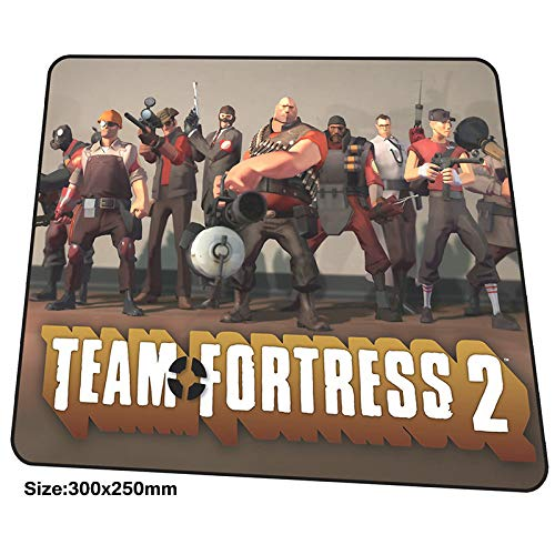 XIAOXIANNV Team Fortress 2 Mousepad 300X250X3Mm Gaming Mouse Pad Big Gamer Mat High-End Game Computer Desk Padmouse Locrkand Large Play Mat
