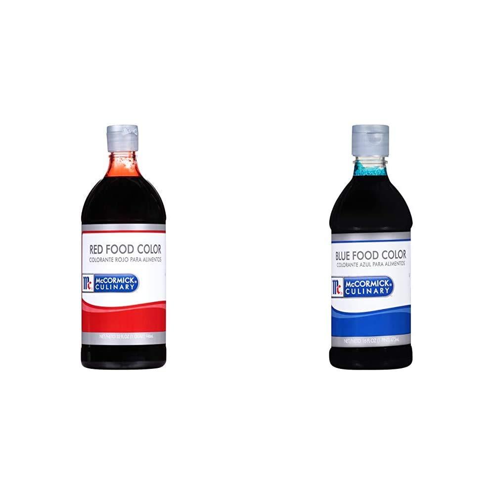 McCormick Culinary Red Food Color, 32 fl oz & Blue Food Color, 16 fl oz