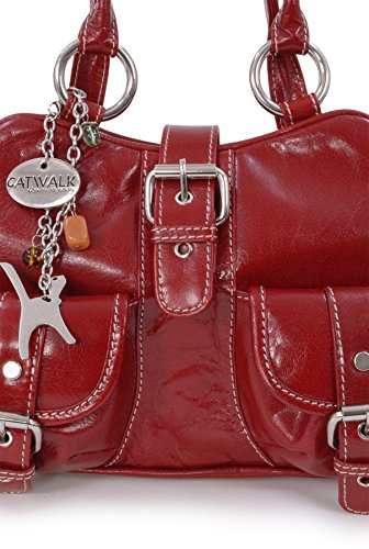 CATWALK COLLECTION - FAITH - Bolso de mano - Cuero Rojo