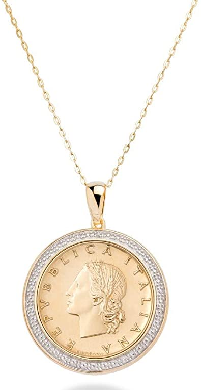 Mia Diamonds 925 Sterling Silver GA State Pendant with Chain Necklace