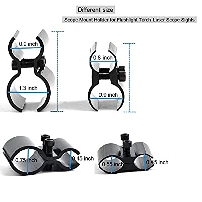 Tactical Bracket Barrel Ring Scope Clamp Scope Mount Holder for Flashlight Torch Scope Sights [Set of 2]