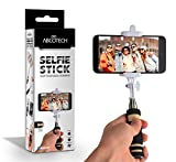 Bluetooth Selfie Stick - Self-portrait Monopod with cell phone clamp