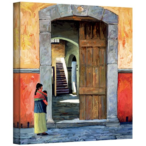 ArtWall Guanajuato Door Gallery Wrapped Canvas Art by Rick Kersten, 14 by 14-Inch