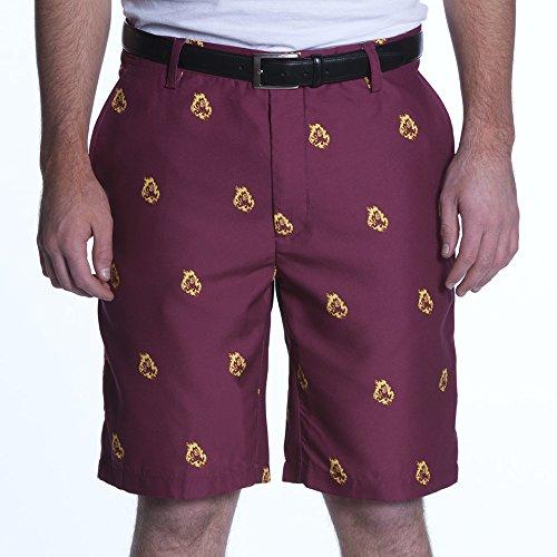 NCAA Adult Men's Game Changer Shorts, Arizona State Sun Devils, 34, Maroon