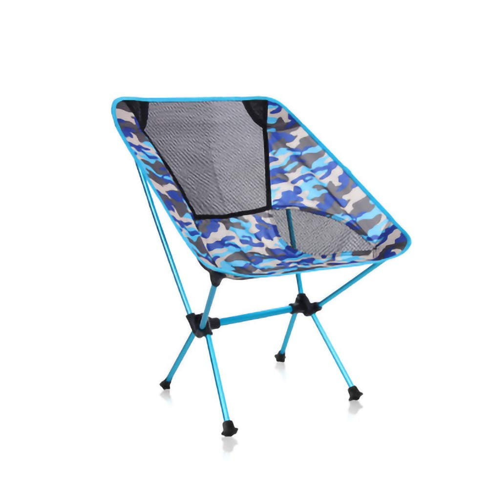 Navybleucamouflage  RZJ-Out Folding Table and Chair Camping en Plein Air Chaise Pliante Lune Camouflage Oxford Tissu Ultra Léger portable Décontracté pour Picnic plage Randonnée Voyage Pêche,FlameCamouflage