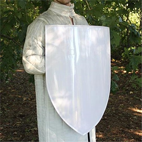 Blank European Warrior Knight Classic Medieval Heater Steel Kite Shield LARP by General Edge (Image #1)