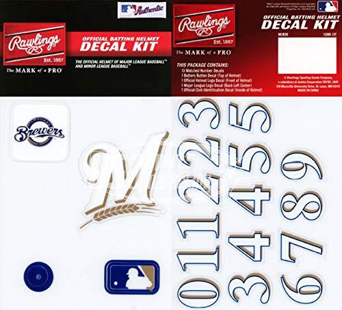 Rawlings Sporting Goods MLBDC Decal Kit, Milwaukee Brewers