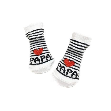 YOSEMITE Calcetines de bebé niña niño Suave cálido algodón Love Mama Papa Cartas  Calcetines Regalo 7ccb9875a0d