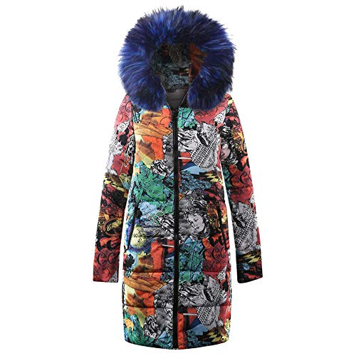 l l Bean Womens Coat, Women's Winter Long Down Cotton Ladies Parka Hooded Coat Quilted Jacket Outwear, Women's Coat and Jacket Blue (Coats Victorian Winter)