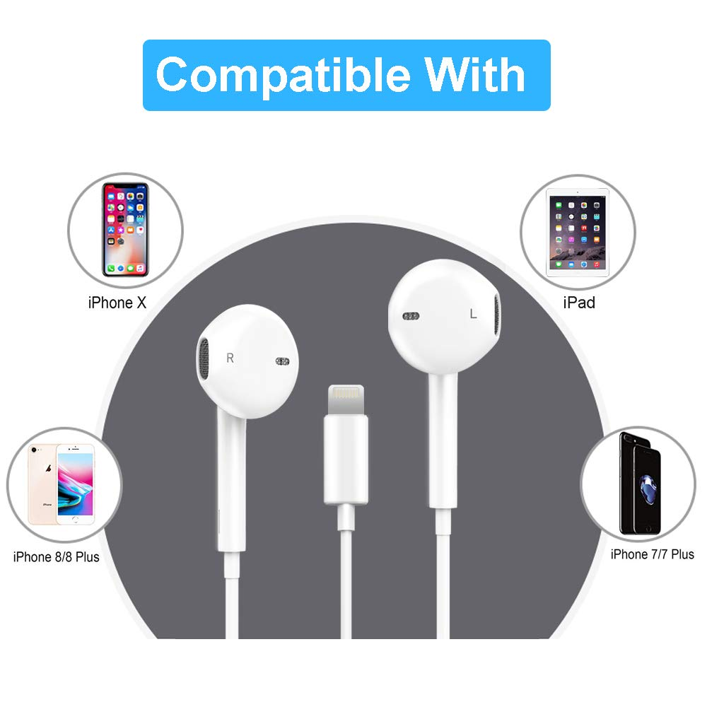 XBRN Earbuds, headphone compatible iP X/8/7 ,Earphone with remote contral