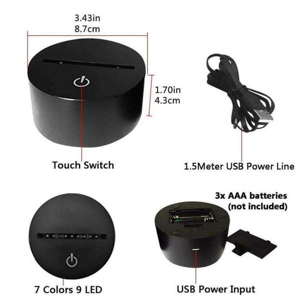 Amazon.com : CTO Luz de la Noche Novedad Lámparas de Ilusión 3D MTB Motocross Bike Led USB 7 Colores Sensor Lámpara de Escritorio para Los Amantes Del ...