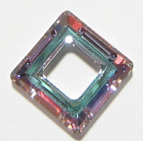 1 pc Swarovski Crystal 4439 Square Frame Pendant Vitrail Light 14mm / Findings / Crystallized Element