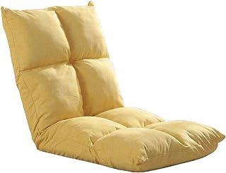 Canapé de Sol réglable Canapé de Jeu Pliant Paresseux Salon Petit méditation de Dossier de canapé-lit (Jaune, café, Bleu) (Couleur : Le Jaune)