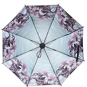 All weather Umbrella,Kmida Windproof, Lightweight,UV Protection Travel Folding Umbrella- with Slip-Proof Handle