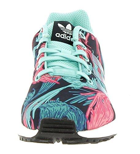 adidas Zx Flux J, Zapatillas de Deporte Unisex Niños, Varios Colores (Aquene / Aquene / Ftwbla), 38 EU