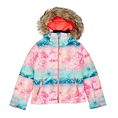 Roxy Snow Jackets Jet Ski Girl's Snow Jacket - Neon Grapefruit/Solar Gradient