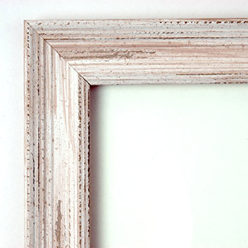 Amanti Art Framed Blue Cork Board Small, Alexandria White Wash ...