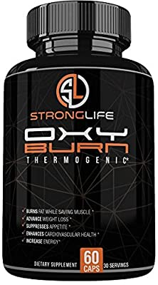 Stronglife Fat Burner Capsules - Weight Loss Dietary Supplement with Green Tea, Raspberry Ketones, Yohimbe Bark,- Natrual Energy Booster, Enhance Muscle Strength, Focus Support - Non-GMO- Made in USA