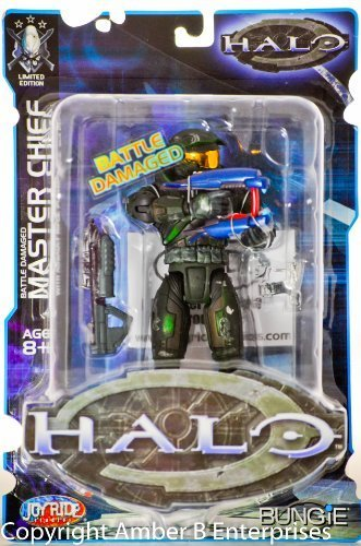 Halo Limited Edition Battle Damaged Green Master Chief [78906] (with Assault Rifle, Plasma Rifle and Pistol)