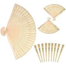 Forsun Sandalwood Fan (Set of 50 pcs) - Baby Shower Gifts & Wedding Favors