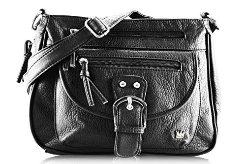 Purse King Pistol Concealed Carry Handbag (Black)