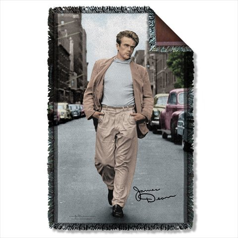 James Dean Colorful Walk Sublimation Woven Throw
