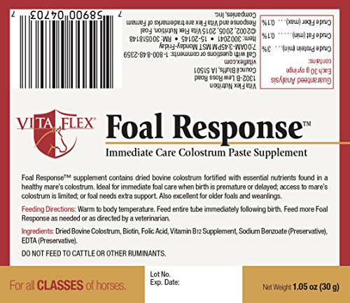 Picture of Vita Flex Foal Response Immediate Care Colostrum Paste Supplement, 1.05 oz