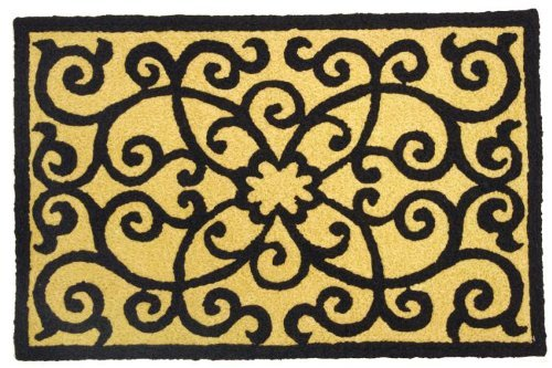 Frontgate Outdoor Rugs (Elegant Frontgate Scroll Accent Area Rug Jellybean)