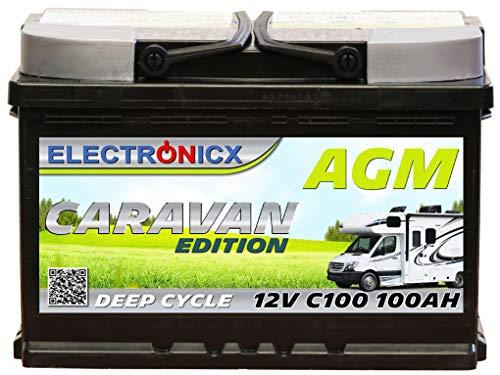 51ZpKeSD5RL Electronicx Caravan Edition Batterie AGM 100AH 12V Wohnmobil Boot Versorgung Solarbatterie Versorgungsbatterie 100ah