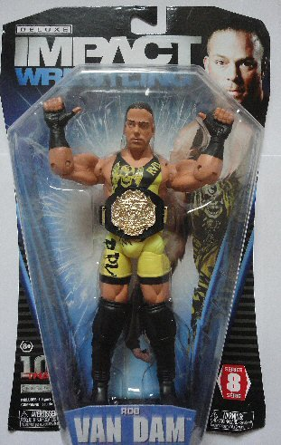 TNA Wrestling Deluxe Impact Series 8 Action Figure Rob Van Dam [Toy]