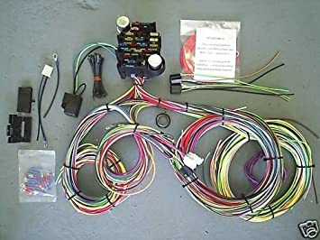 51ZpKyP9pNL._SX355_ amazon com ez wiring 21 standard color wiring harness automotive ez wiring 21 circuit harness wiring diagram at edmiracle.co