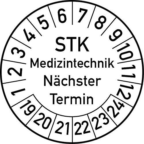 20 mm /Ø, Blau Jahrespr/üfplakette 2020 in verschiedenen Farben und Gr/ö/ßen Pr/üfetikett Pr/üfplakette Jahresplakette 100 St/ück