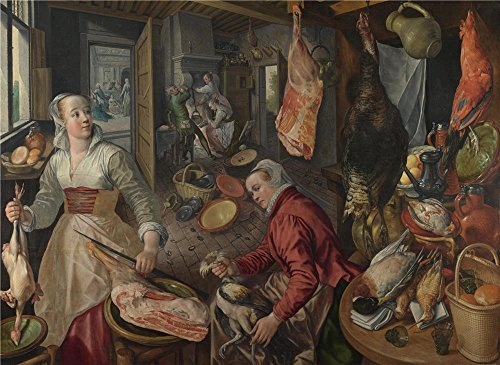 [The High Quality Polyster Canvas Of Oil Painting 'Joachim Beuckelaer The Four Elements Fire ' ,size: 12 X 16 Inch / 30 X 42 Cm ,this High Definition Art Decorative Canvas Prints Is Fit For Hallway Decoration And Home Decoration And] (Mail Order Bride Adult Costumes)