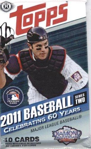 Baseball Hobby Pack - 1 (One) Pack of 2011 Topps Baseball Cards: Hobby Pack Series 2 (10 Cards/Pack)