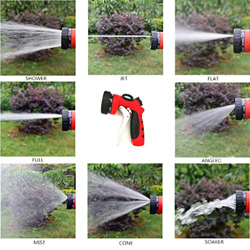 Satin Nickel Wire Kit - Daily Hardware Garden Hose Spray Nozzle 8 Pattern Heavy Duty High Pressure Pistol Car Wash Black