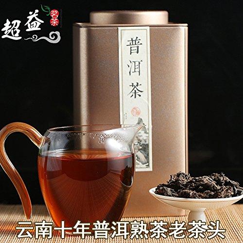 SHI Yunnan Pu'er Tea: the first ten years old tea trees in Menghai Pu'er Tea old tea tea powder Aged Pu'er Tea 250g head