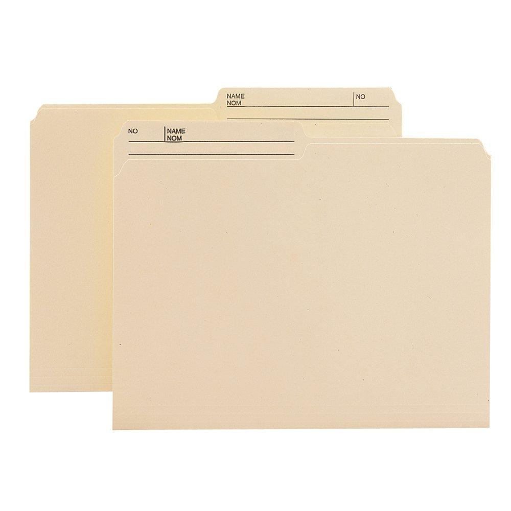 Smead 10145 File Folder, Letter, 1/2-Cut, 2 Reversible Tab, Manila, 100 Per Box Smead CA